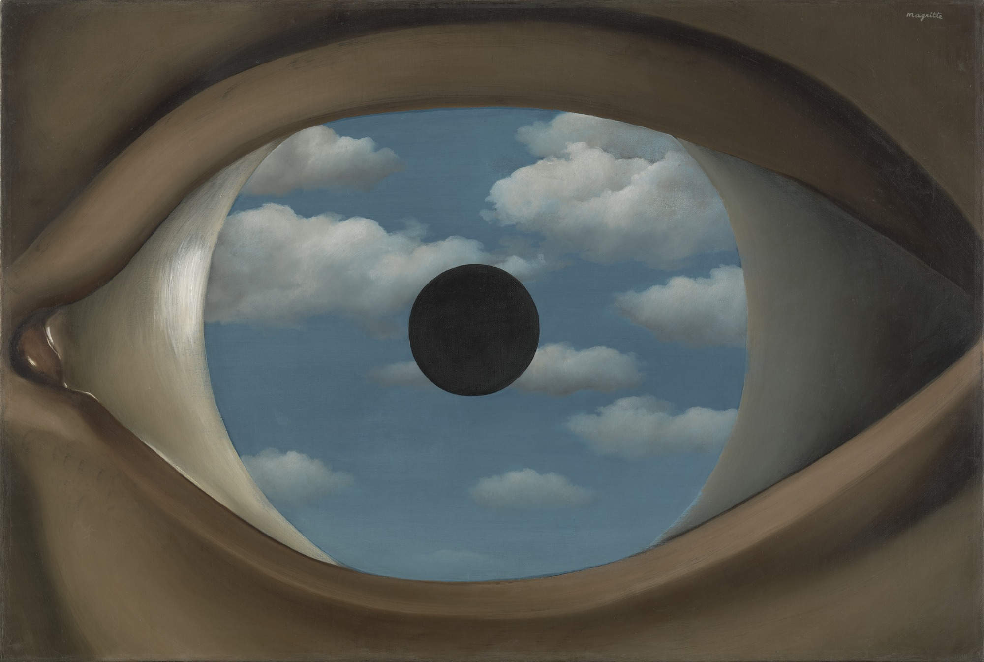 False mirror, Magritte